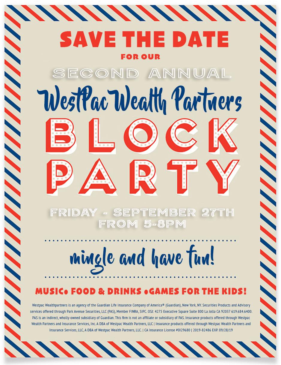 WestPac Wealth Partners 2nd Annual Block Party @ WestPac Wealth Partners