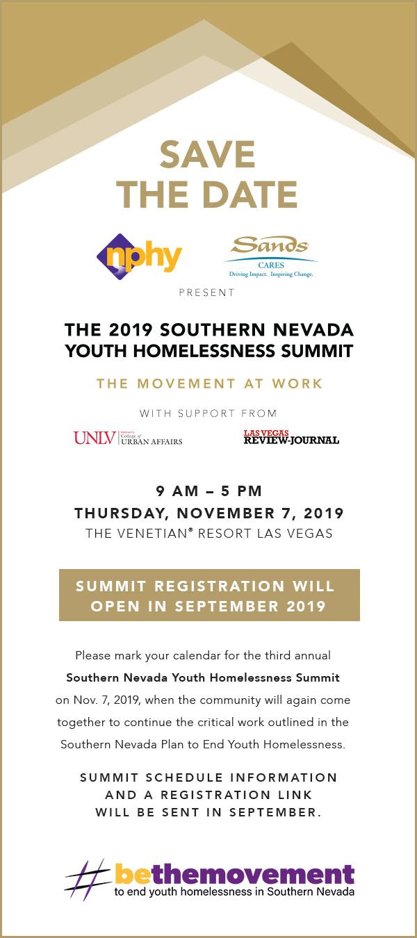The 2019 Southern Nevada Youth Homelessness Summit
