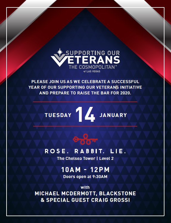 Supporting Our Veterans @ The Cosmopolitan of Las Vegas