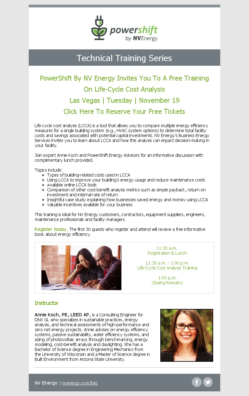 2019 NOV Las Vegas Life Cycle Cost Analysis Training