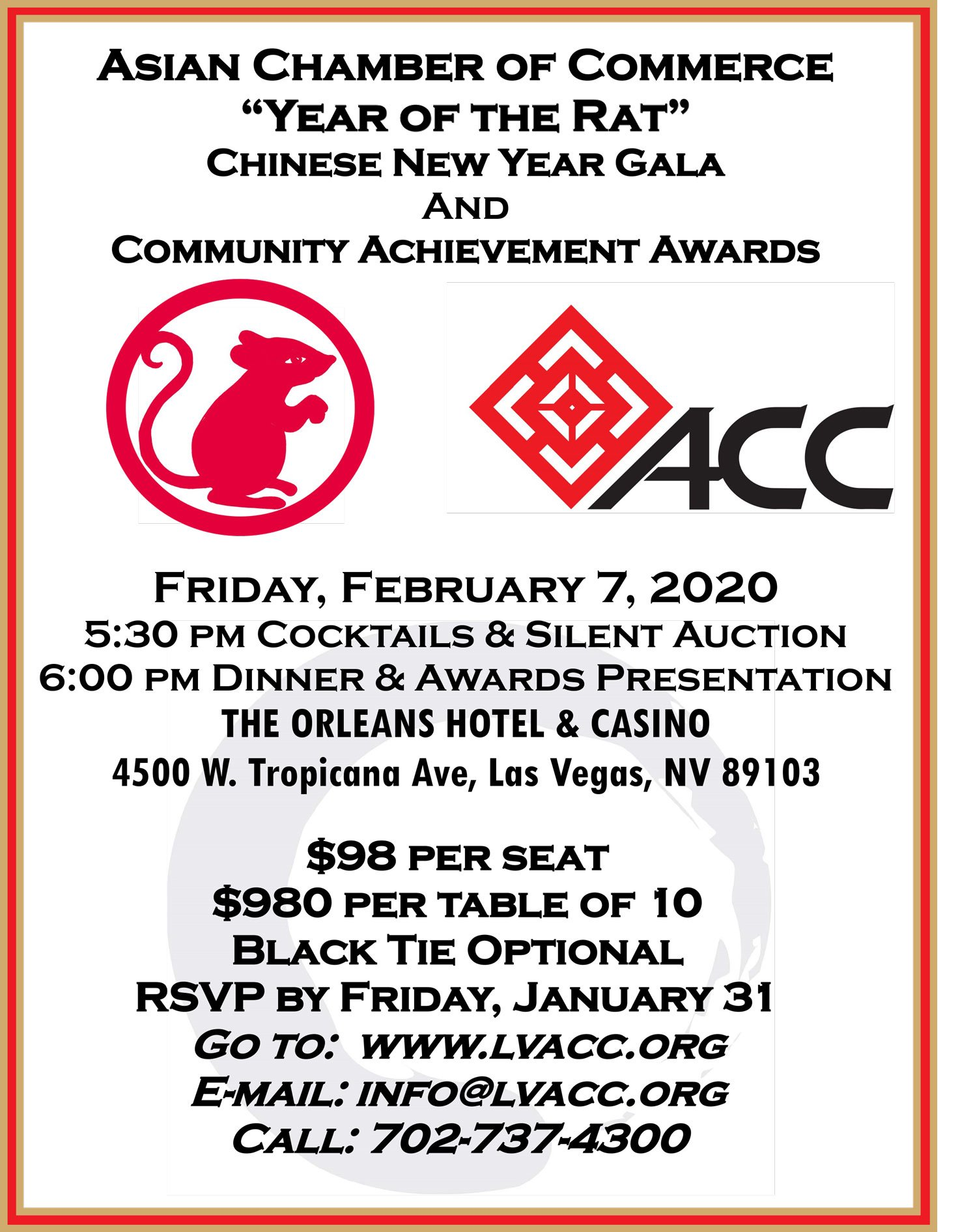 Chinese New Year Gala @ THE ORLEANS HOTEL & CASINO
