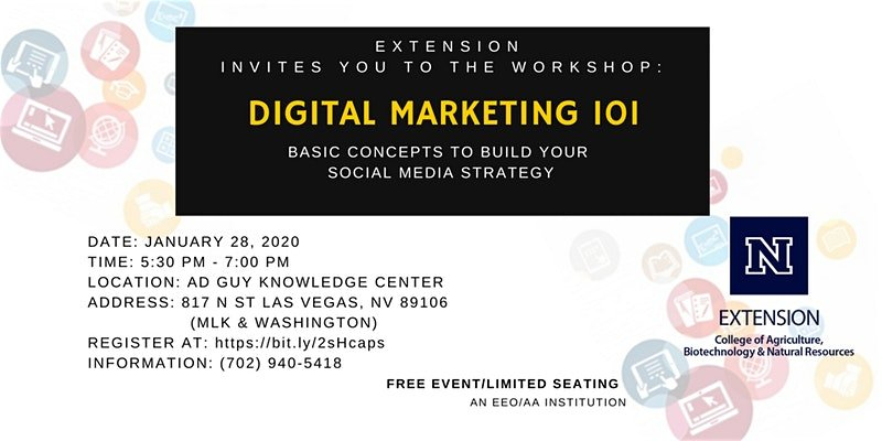 DIGITAL MARKETING 101: BASIC CONCEPTS TO BUILD YOUR SOCIAL MEDIA STRATEGY @ A.D. Guy Center