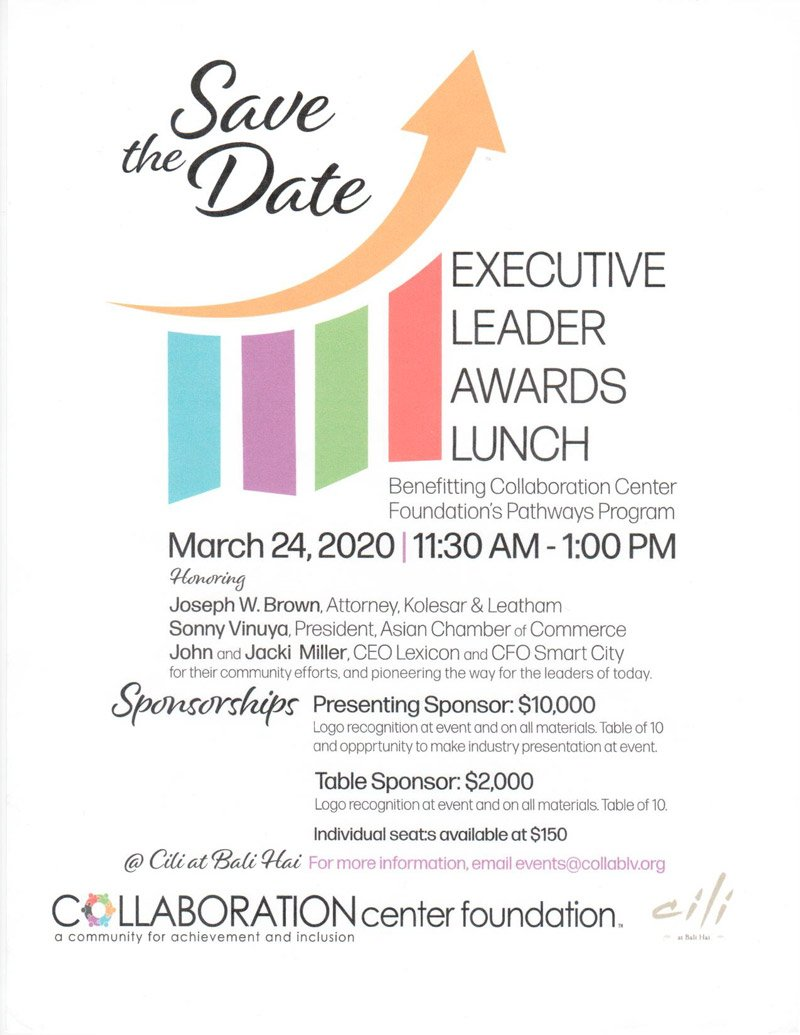 Save the Date - Executive Leader Awards Lunch Flyer