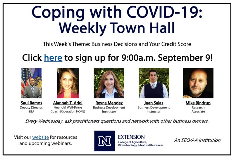 Information about the Coping with COVID-19 - Weekly Town Hall