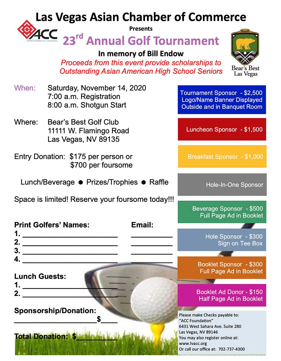 23rd Annual Golf Tournament @ Bear's Best Golf Club