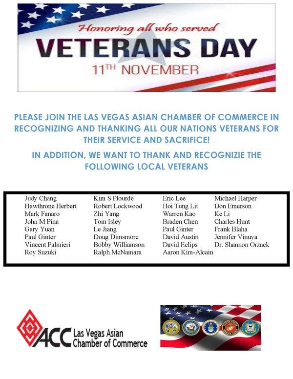 ACC Veteran Day 2020 flyer