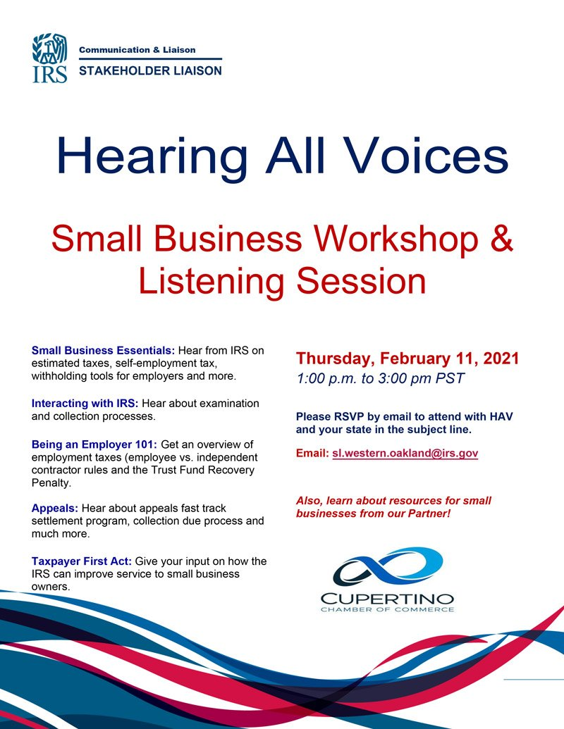 Hearing All Voices - Small Business Workshop & Listening Session