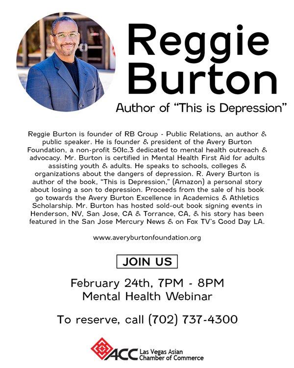 Reggie Burton Webinar Flyer