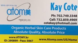 Kay Cote from Atomy - Business Card