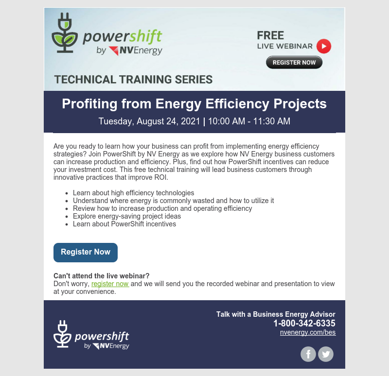 AUG 2021 Training Invite - Profiting from EE Projects