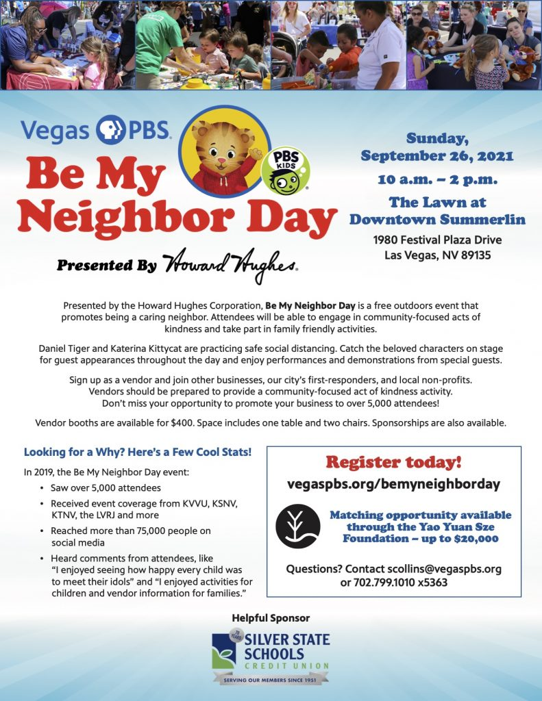 Community Partner Event: PBS - Be My Neighbor Day