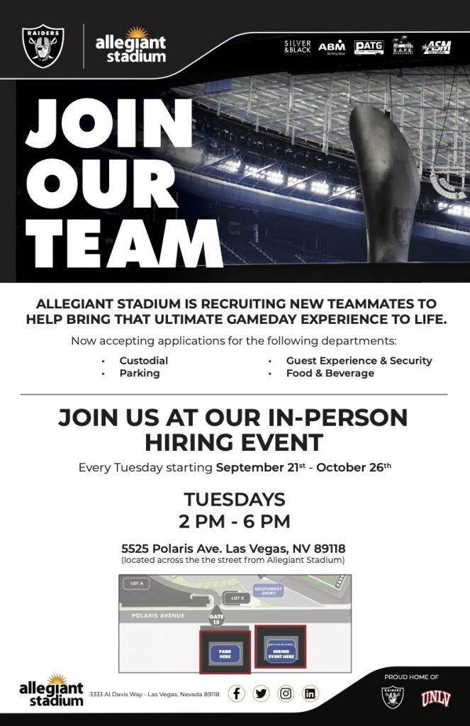 Allegiant Stadium Hiring Event