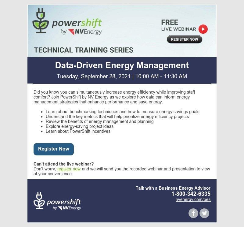 Technical Training Series: Data-Driven Energy Management