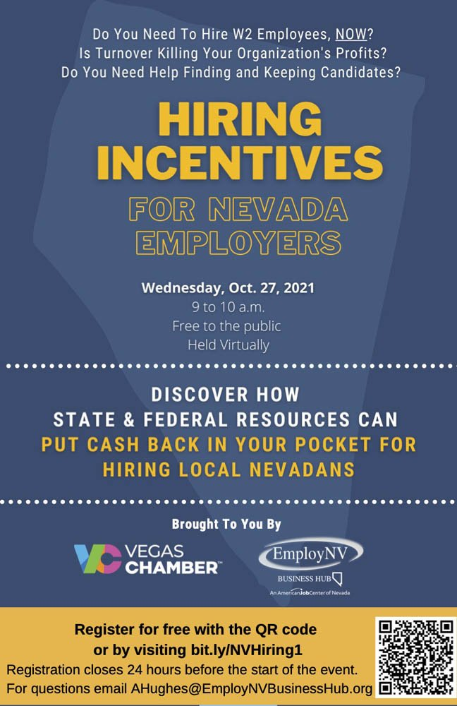 Hiring Incentives for NV employers